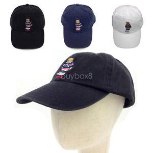 Vintage Polo Embroidery USA Hockey Teddy Bear Men s Hat Baseball Cap ... 1c3ee752931