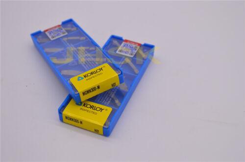 10pcs KORLOY MGMN300-M H01 for Aluminum// 3.0mm Grooving Carbide Insert