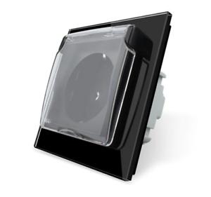 LIVOLO Design Glas Steckdose Schutzabdeckung 1 Fach C7-1WF//SR//C1EU-13 Gold