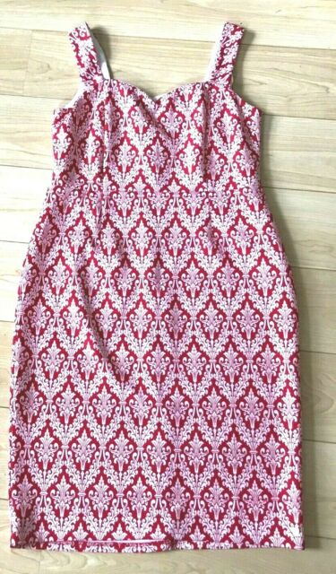 BN ladies Joe Browns red & white patterned dress size 16