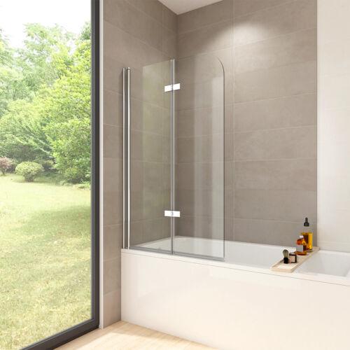 100x140cm Badewanne Faltwand Badewannenaufsatz Glas Dusche Duschabtrennung NANO
