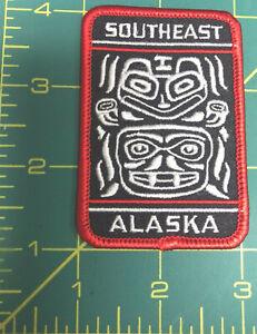 Alaska-iron-on-Tribal-Design-patch-Southeast-Alaska-Totem-design-Totemic-Patch