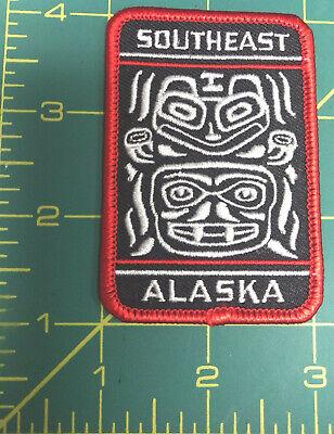 Totemic Patch Alaska iron on Tribal Design patch Southeast Alaska Totem design