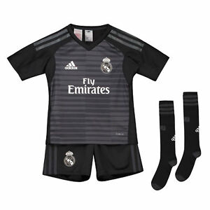 Offiziell Real Madrid Heim Torwart Fußball Trikot Shorts 2018/19 Kinder adidas