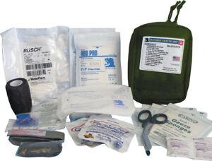 """Elite First Aid Gunshot Trauma Kit 8"""" x 6"""" x 3.5"""" OD Green"""