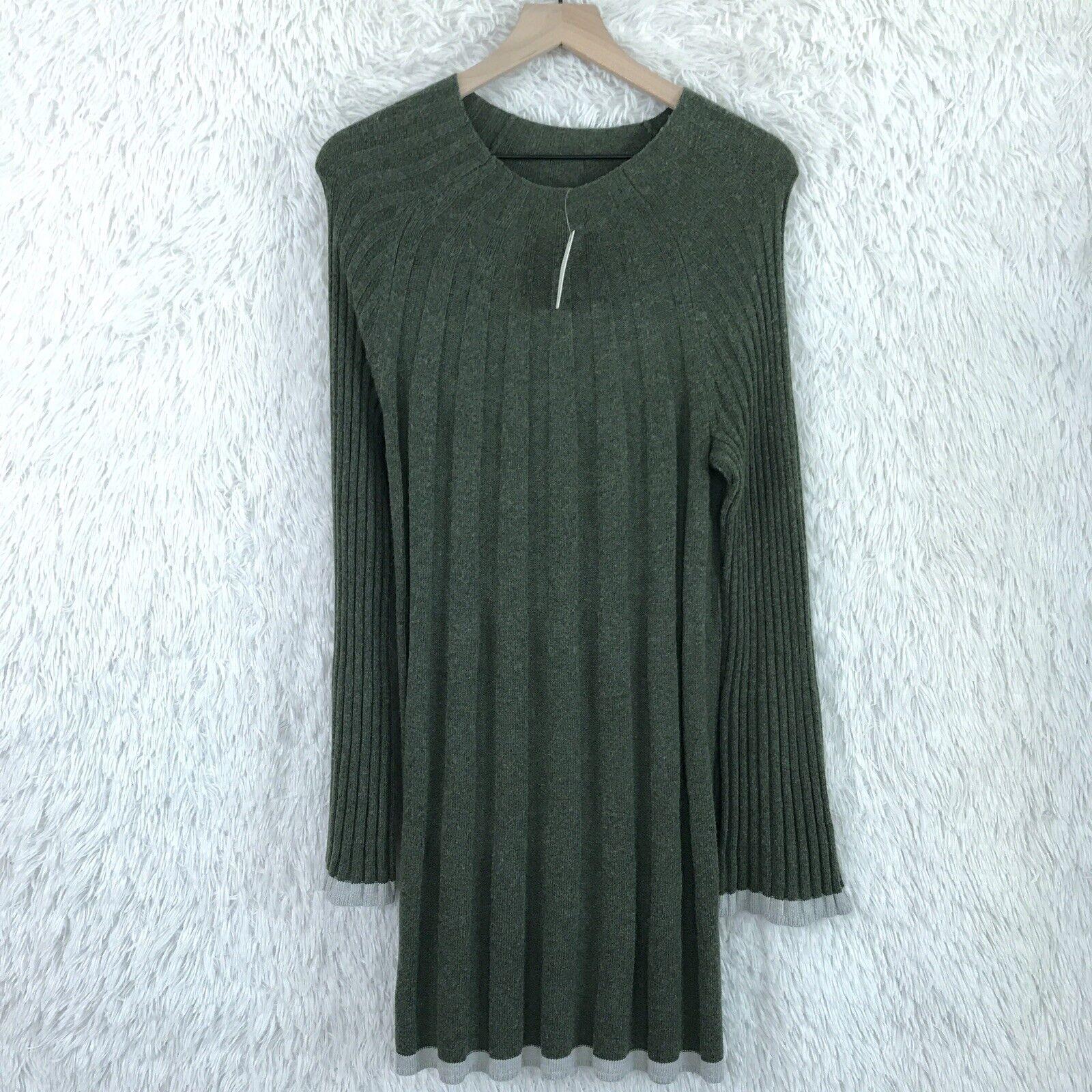 Anthropologie damen Größe Medium Arsenau Sweater Dress Alpaca Wool Bell Sleeve