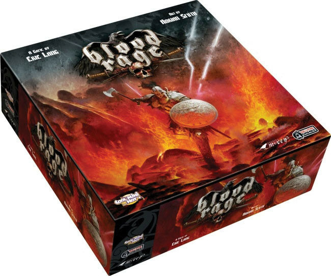 Blood Rage Board Game Factory Sealed Brand Nuovo CMON Games Cool Mini Or Not