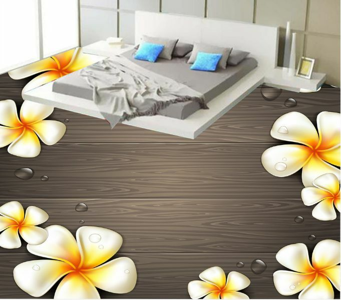 3D Blooming Flower Board Floor Wallpaper Murals Wall Print Decal 5D AJ WALLPAPER