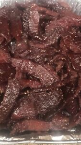 Details About Homemade Teriyaki Beef Jerky Made With Angus Beef One Pound Spicy Optional