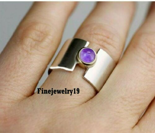 Details about  /Amethyst Ring 925 Sterling Silver Band Ring Handmade Ring Statement Jewelry A242