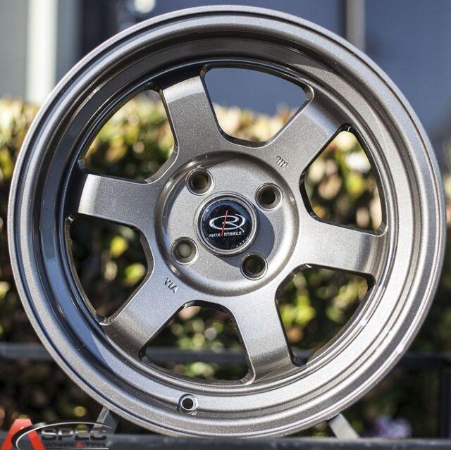 15X7 ROTA GRID-V WHEELS 4X100 BRONZE RIM ET20MM FITS BMW 2002 E30 MIATA