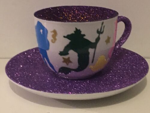 Personalised Little Mermaid Ariel Themed Glittered Tea Light Holder Gifts Cup