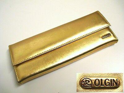 OLGIN Edle Abendtasche Gold 22x9cm Balltasche Handtasche Abendtasche Ungetragen