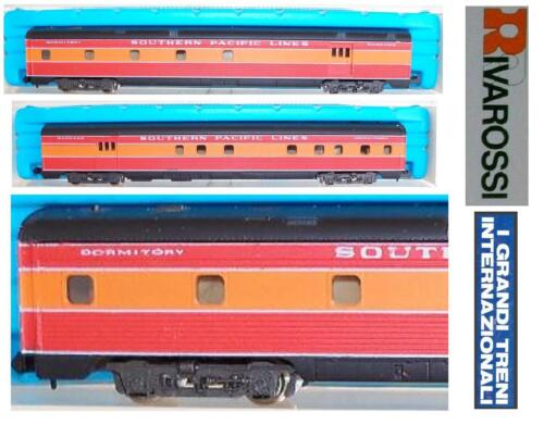 RIVAROSSI 2672 RAILWAY CARRIAGE LUGGAGE & DORM SOUTHERN PACIFIC LIGHTS & OVP