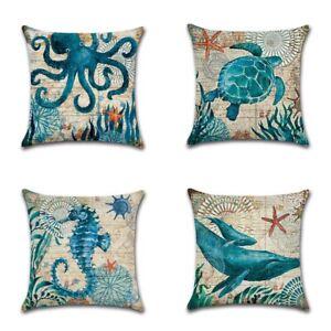 Sea-Animal-Cotton-Linen-Pillow-Case-Sofa-Waist-Cushion-Cover-Office-Home-Decor