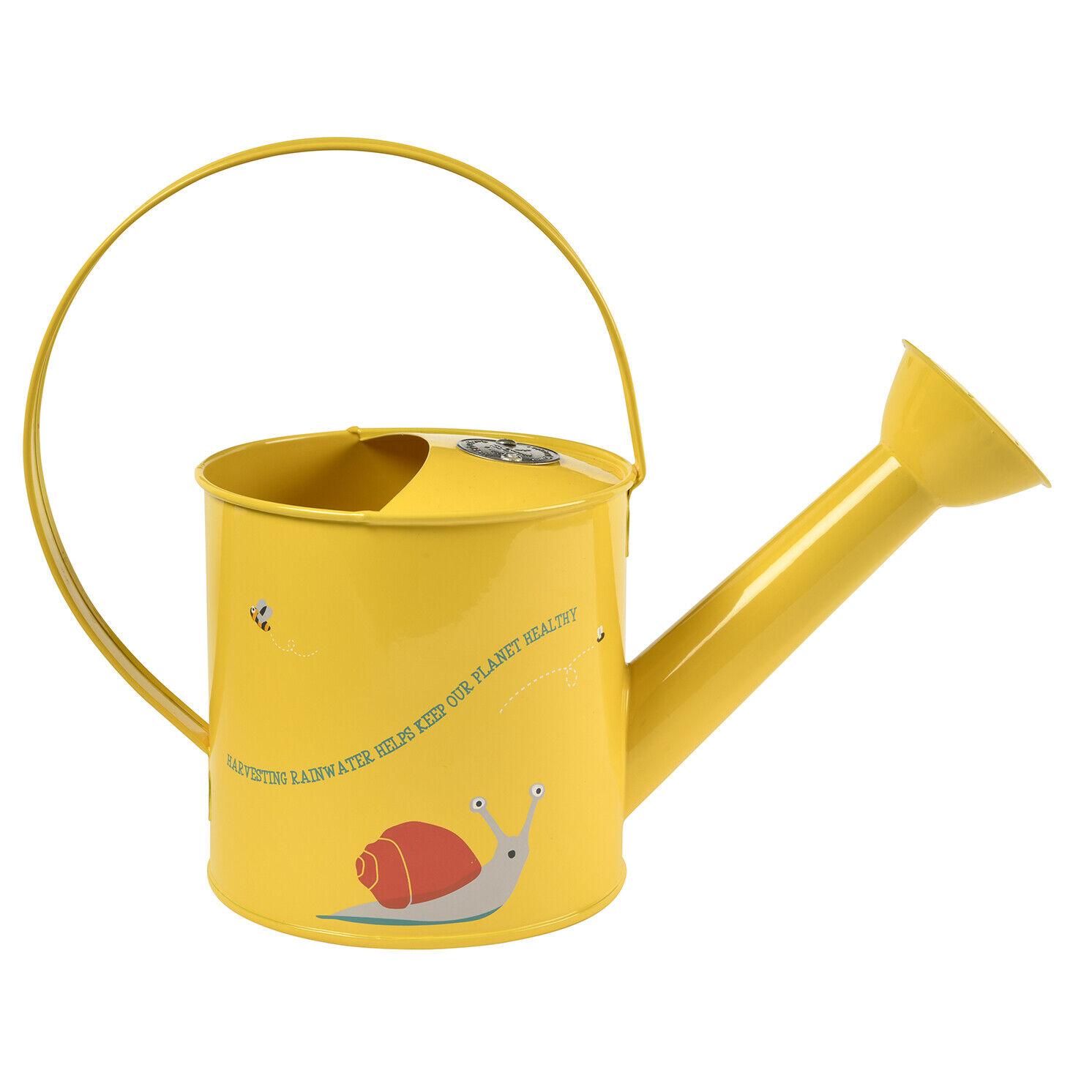 Burgon & Ball - National Trust Children's Yellow Frog Design Metal Watering Can