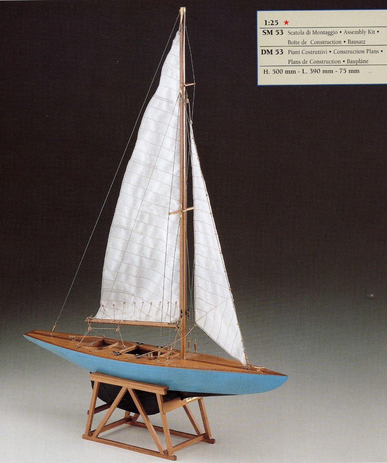 COREL SM53 BARCA Modello KIT Imbarcazione Yacht Monotipo NAVE 5,5 scala 1 25