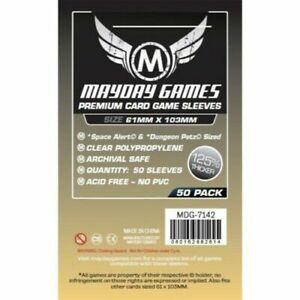Highly Collectible High Quality Mayday Premium Space Card Sleeve 61 X 103mm