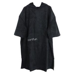 Adult Changing Robe Poncho Hooded Towel for Surf Beach Kayak Swim Windsurf