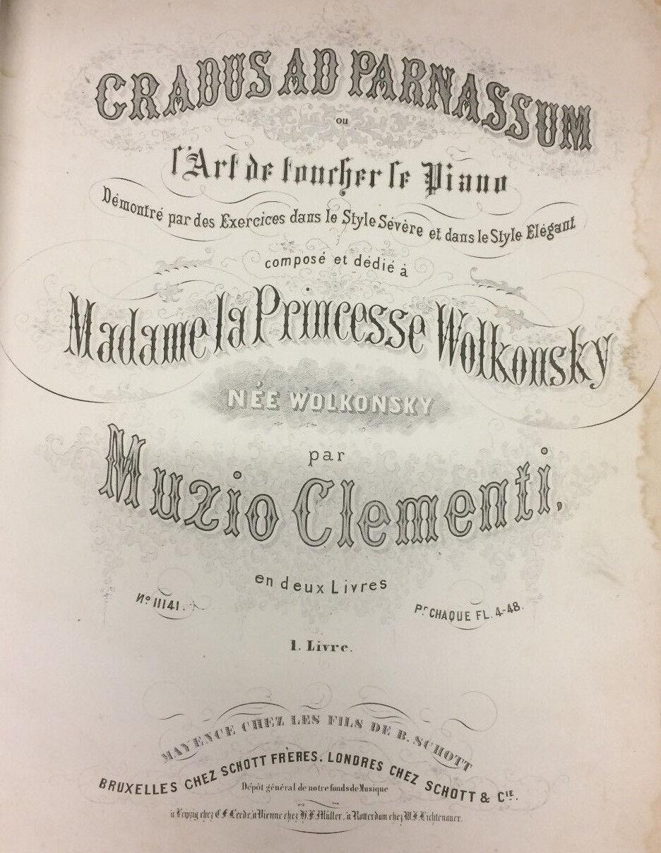 Cradus Ad Parnassum - Clementi