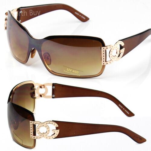 Neu Dg Damen Herren Sonnenbrille Designer Mode um Schild Retro Gewickelt