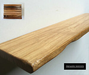 Beau Image Is Loading OAK FLOATING SHELF RUSTIC WOODEN SHELVES MANTLE 15CM