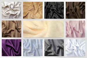 Velboa Fur Fleece Fabric JS-CSV-White-M