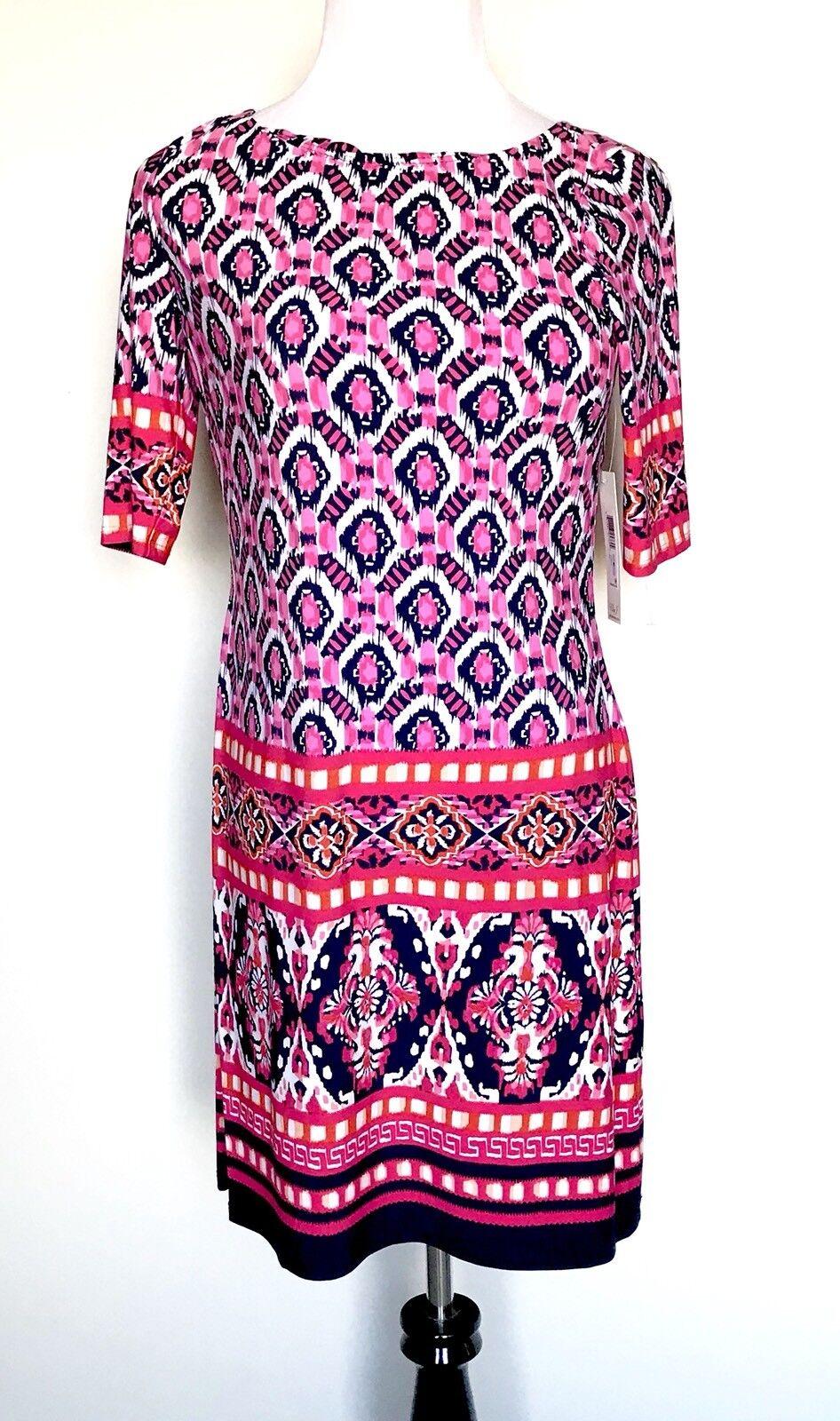 Eliza J Rosa Diamond Stretch Tunic Dress NWT Retails  Price  Größe 16