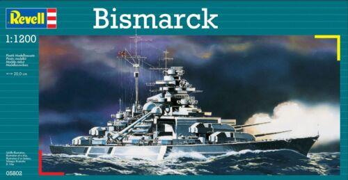 Revell modelo kit 05802-Bismarck en escala 1:1200 nuevo embalaje original