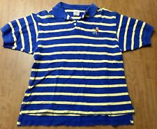 GOOFY DOG embroidery Walt Disney Store small polo shirt w/ stripes sewn Dawg
