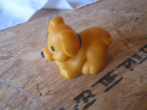 Fisher Price Little People Farm Barn puppy dog collar blue pet shop tan toy k 9