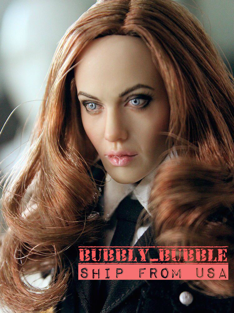1 6 Angelina Jolie Mrs Smith Head Sculpt For 12  Hot Toys Phicen  SHIP FROM USA