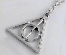 Harry Potter Halskette mit Anhänger Heiligtümer des Todes, silber