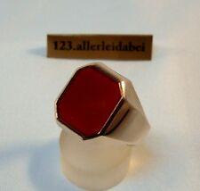 Hübscher Karneol Siegelring 333 Gold Rotgold Ring Herrenring / AV 700