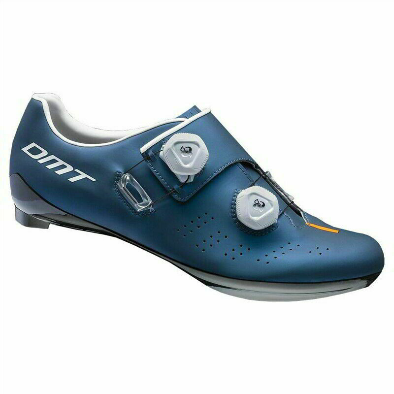 DMT D1 MATTE PETROL blueE  & WHITE CARBON SOLE ROAD CYCLING SHOES WITH BOA DIALS  fishional store for sale