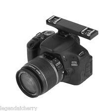 WS doble zapata flash Speedlite Separador de soporte de luz para Canon DSLR TTL 2C