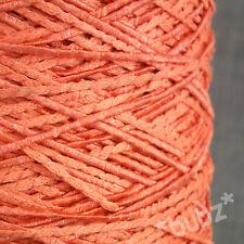 Impresionante Coral Suave y Sedoso 4 capas GIMP hilo 500 gramos Cono Brillante Lurex Crochet Tejido