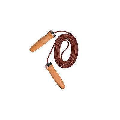 LEATHER SKIPPING JUMP SKIP ROPE - BALL BEARING SWIVEL