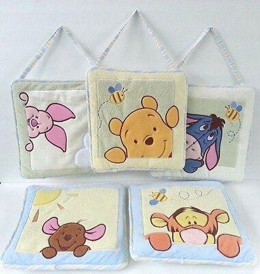 Winnie the Pooh Tigger Eeyore Roo Piglet Quilted Wall Hangings Baby Nursery