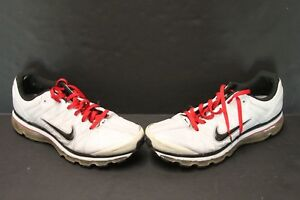 sports shoes 5520a 9076b Image is loading Nike-Air-Max-2009-Leather-White-Black-Red-