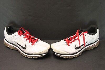 Nike Air Max 2009 Leather WhiteBlackRed Mens Running Shoes 366718 102 Sz 14 820652136588 | eBay