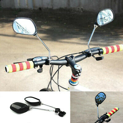 Pair Aluminum Bike Rear View Mirror Mountain Bicycle Rearview Handlebar End Back