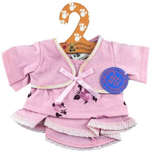 """Pink Flower Skirt Outfit Fits Build A Bear Workshop 12/"""" 16/"""" Teddy Bears"""