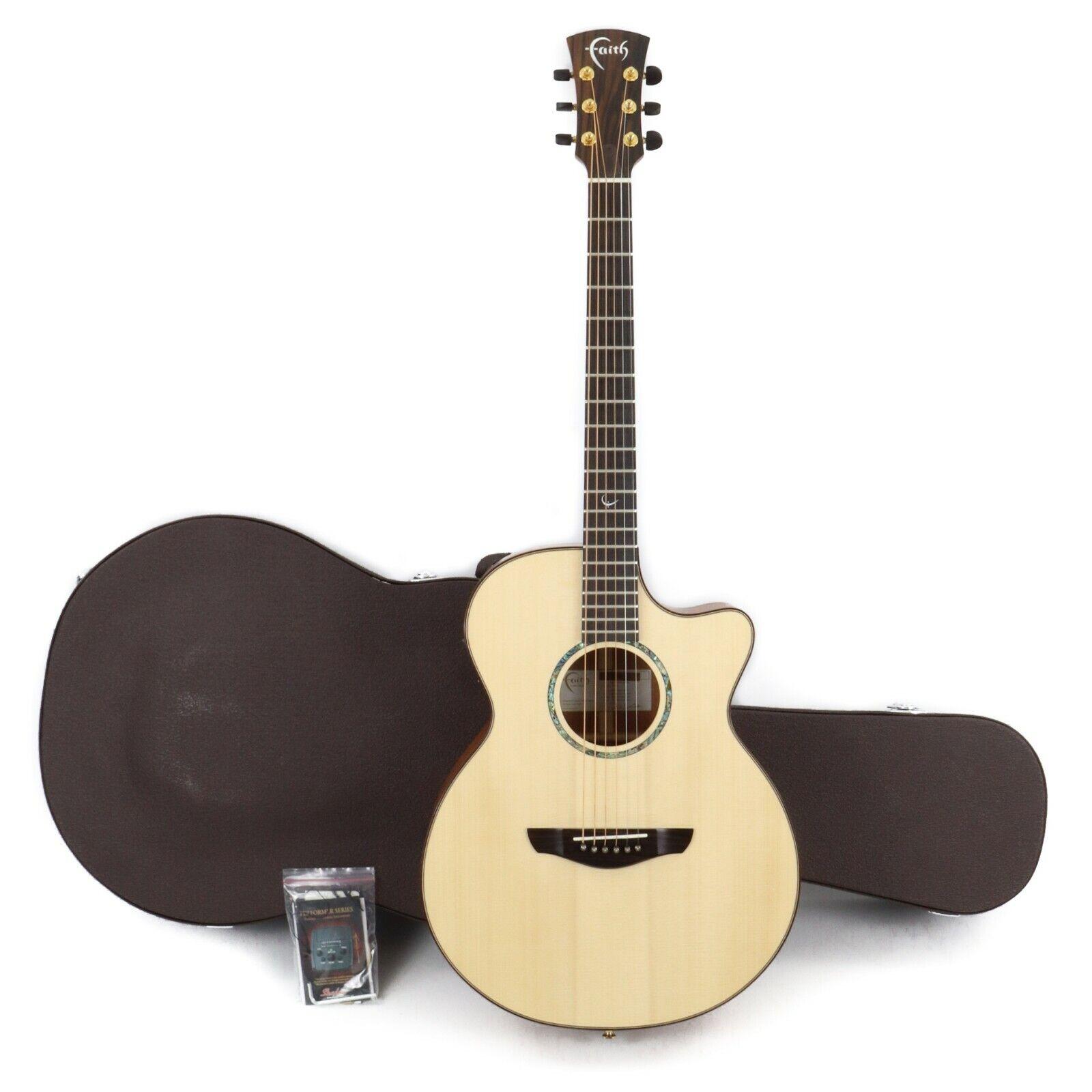 Faith FV Natural Venus Cutaway Electro Acoustic Guitar w  Case - natural