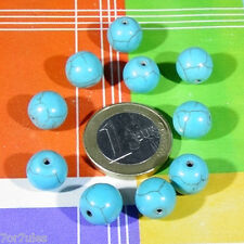 25 Perline Howlite Turchese10mm T201C  Beads Turchese Turkis Turchese