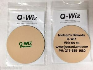 Q-Wiz-Shaft-Conditioner-Polisher-2-Logo-Choices-Nielsen-039-s-Billiard-or-Q-Wiz