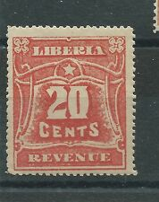 LIBERIA REVENUE 20 cents MNH BUT POOR GUM DIFFICULT TO FIND