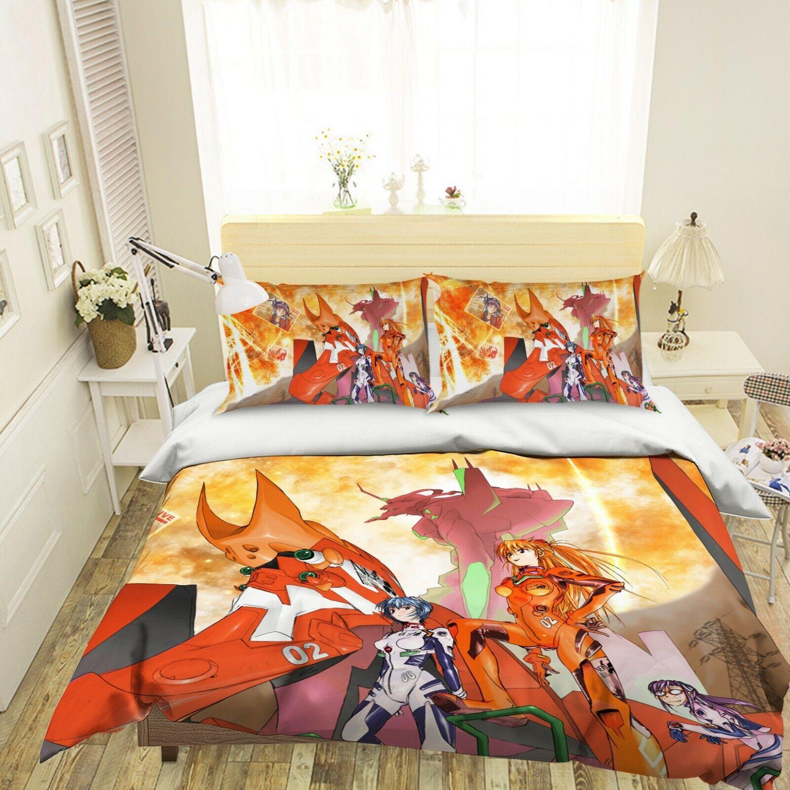 3D Neon Genesis Evangelion C02 Japan Anime Bett Kissenbezüge Quilt Bettdecke Wen