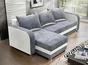 Corner Sofa Bed Luton Two Storage Universal Side Chaise Ebay