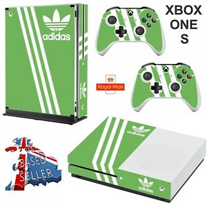 ADIDAS-GREEN-xbox-one-S-Decals-skins-wrap-vinyl-stickers